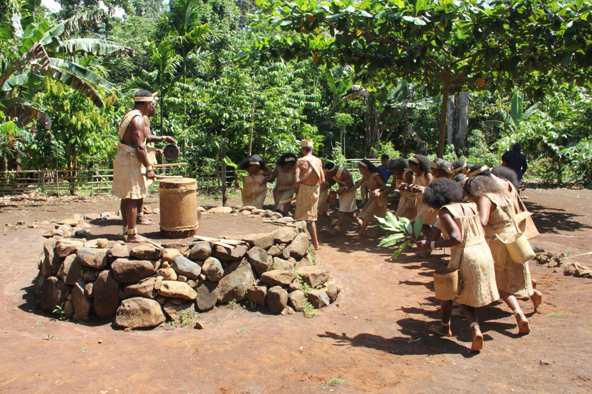 Monbang traditional village dance 1